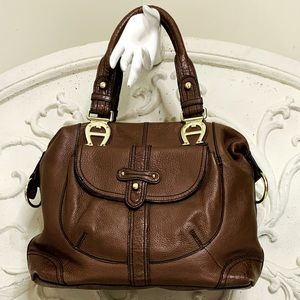 Etienne Aigner Satchel Shoulder Bag Purse